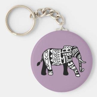Stammes- gehender Elefant Schlüsselanhänger