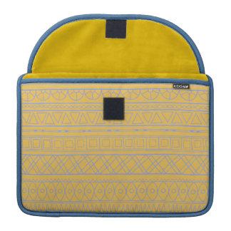 Stammes- gelbes ethnisches Muster Macbook Prohülse Sleeve Für MacBooks