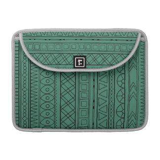 Stammes- grünes ethnisches Muster Macbook Prohülse MacBook Pro Sleeve