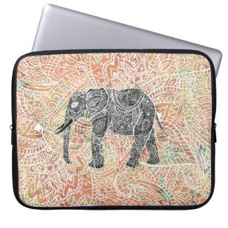 Stammes- Paisley-Elefant-buntes Computer Sleeve Schutzhülle