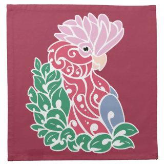 Stammes- Papagei Rose-breasted Tätowierung Galah Serviette