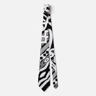 Stammes- Schwarzweiss-Zebra-gemusterte Krawatte