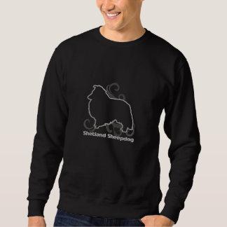 Stammes- Sheltie gesticktes Sweatshirt