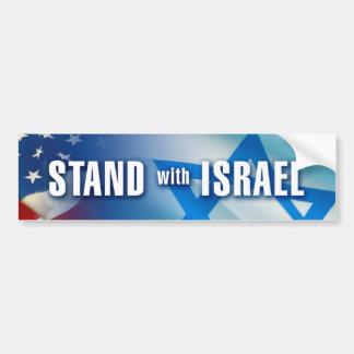 STAND mit ISRAEL Autoaufkleber