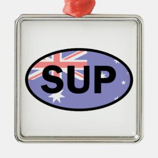 Standup Paddleboard Australien Flagge Silbernes Ornament
