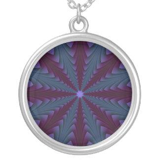 Stange-Punkt in der blauen und lila Halskette