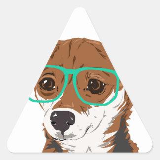 Stanley die Chihuahuamischung Dreieckiger Aufkleber