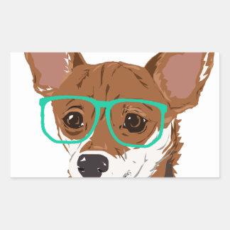 Stanley die Chihuahuamischung Rechteckiger Aufkleber