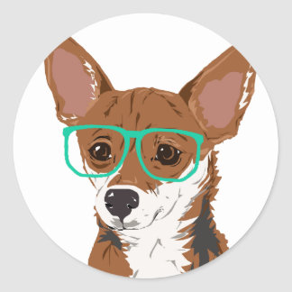 Stanley die Chihuahuamischung Runder Aufkleber