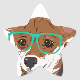 Stanley die Chihuahuamischung Stern-Aufkleber
