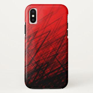 Staplungskreuzschraffieren-Rot - iPhone/iPad Fall iPhone X Hülle