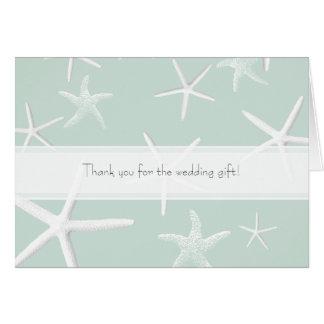 Starfish-Leidenschafts-kundenspezifische Hochzeit Karte