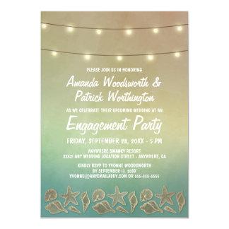Starfish + Seashell-Verlobungs-Party Einladungen
