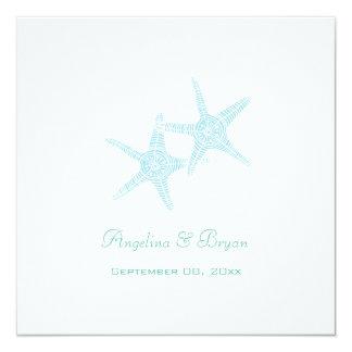 Starfish-Strand-Hochzeits-Einladung Quadratische 13,3 Cm Einladungskarte
