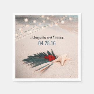 Starfish-tropische Hochzeit in Urlaubsort Papierservietten