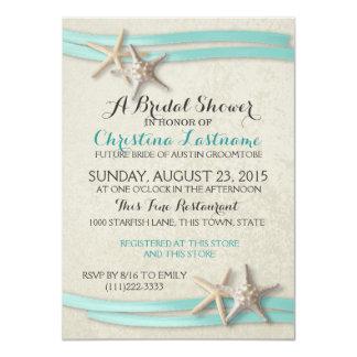 Starfish-und Band-Brautparty 11,4 X 15,9 Cm Einladungskarte