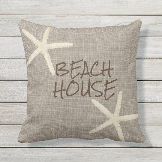 starfish und leinwand wurfs kissen im freien kissen f r. Black Bedroom Furniture Sets. Home Design Ideas