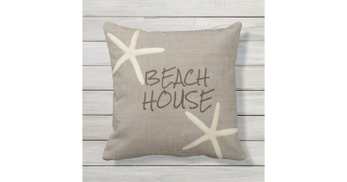 starfish und leinwand wurfs kissen im freien kissen f r drau en. Black Bedroom Furniture Sets. Home Design Ideas