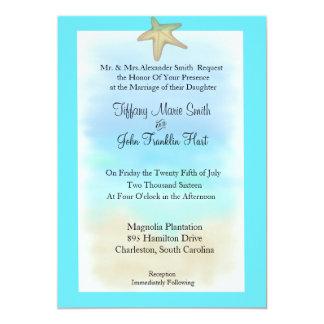 Starfishseashell-Hochzeits-Einladung 12,7 X 17,8 Cm Einladungskarte