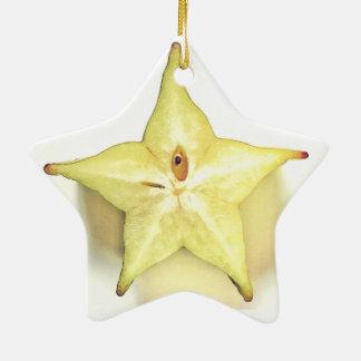 Starfruit Dble-Versah Stern-Verzierung mit Seiten Keramik Stern-Ornament