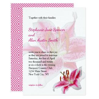 Stargazer-Silhouette-Hochzeits-Einladung Karte