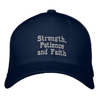 Stärke, Geduld u. Faith_ gestickter Hut Bestickte Kappe