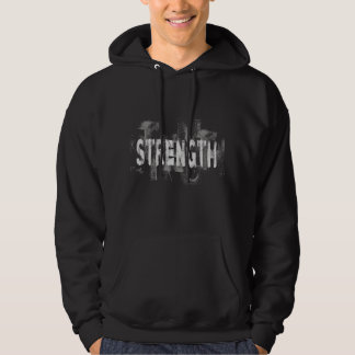 Stärkenmotivations-Kalligraphiet-shirt v1 Hoodie
