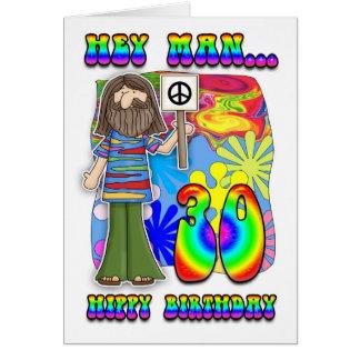 Starker 30. Geburtstag - Hippie-Geburtstag Grußkarte