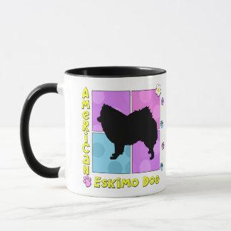Starker amerikanischer Eskimohund Tasse