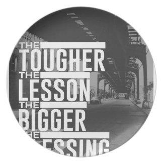 Stärkere Lektions-größerer Segen Melaminteller