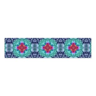 Starkes blaues   Kaleidoskop-   buntes Serviettenband