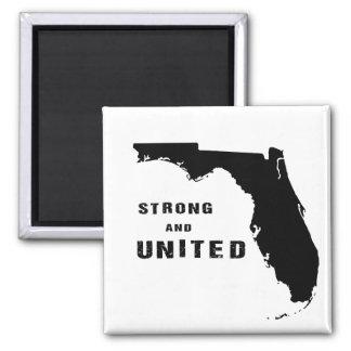 Starkes und vereinigtes Florida nach Hurrikan Irma Quadratischer Magnet