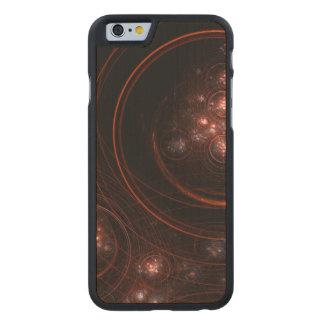 Starlight-abstrakte abstrakte Kunst Carved® iPhone 6 Hülle Ahorn