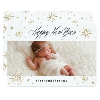 Starlight-neues Jahr-Feiertags-Foto-Karte 12,7 X 17,8 Cm Einladungskarte