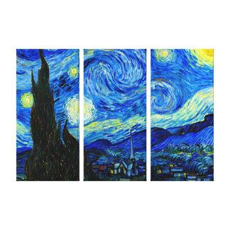 Starry Nacht durch Platten-Leinwand-Druck Van Gogh Leinwanddruck