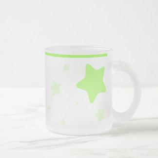 Starry Tasse mit dem Kragen - hellgrün