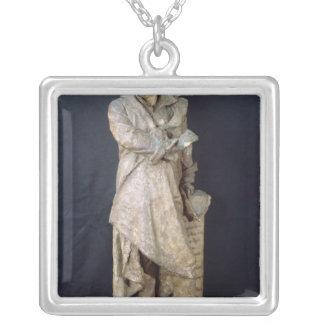 Statue von Alexandre Dumas Pere, c.1883-87 Halskette Mit Quadratischem Anhänger