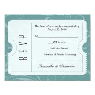 Staubige blaue Hochzeits-Karte UAWG Karte 10,8 X 14 Cm Einladungskarte