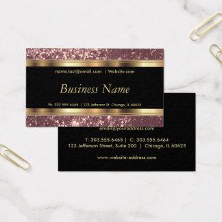 Staubiger Rosen-Glitter und elegantes Gold Visitenkarten