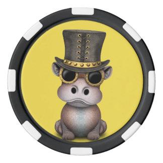 Steampunk Baby-Flusspferd Poker Chips Set