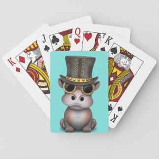 Steampunk Baby-Flusspferd Spielkarten