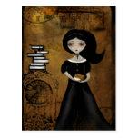 Steampunk Bibliophile-Postkarte