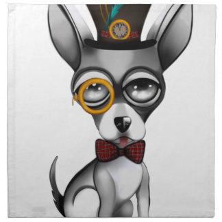 Steampunk Chihuahua-Kunst Stoffserviette