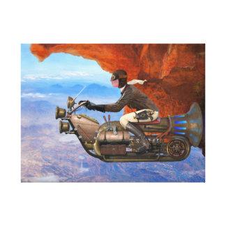 Steampunk Flugmaschine Leinwanddrucke