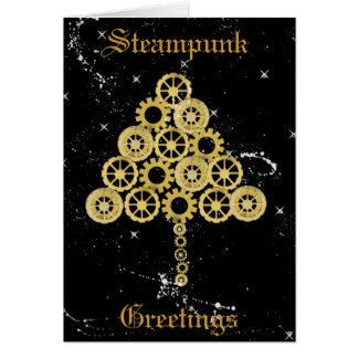 Steampunk Gruß-Weihnachtskarte Karte