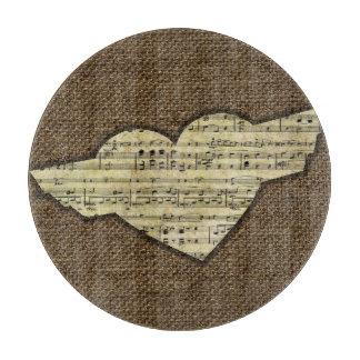 Steampunk Herz Wings viktorianisches Musik-Blatt Schneidebrett