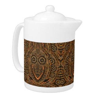 Steampunk Kaleidoskop-    Muster-Teekannen