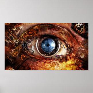 Steampunk Kamera-Auge Poster