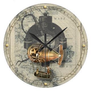 Steampunk lenkbarer Ballon-Fahrt Uhr