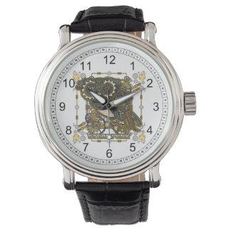 Steampunk mechanische Eule Armbanduhr